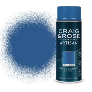 Craig & Rose Artisan Enamel Gloss Spray Paint - True Blue - 400ml
