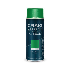 Craig & Rose Artisan Metallic Effect Spray Paint - Green - 400ml