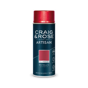 Craig & Rose Artisan Metallic Effect Spray Paint - Red - 400ml
