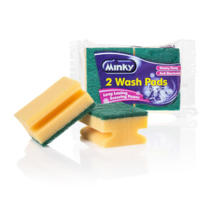 Minky Anti Bacterial Wash Pads HD (Pack of 2)