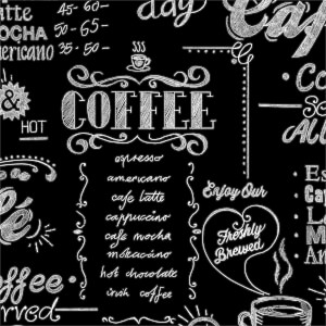 Superfresco Easy Coffee Shop Wallpaper - Black/White