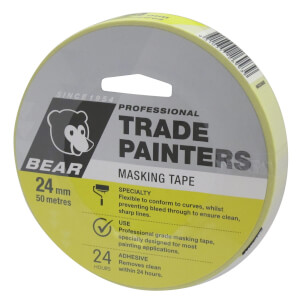 Bear 24mm x 50m Trade Painters Masking Tape