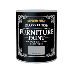 Rust-Oleum Gloss Furniture Paint - Mineral Grey - 750ml