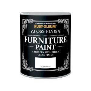 Rust-Oleum Gloss Furniture Paint - White Frost - 750ml
