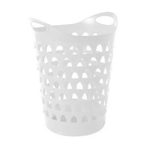 Strata Tall Flexi Laundry Basket - White