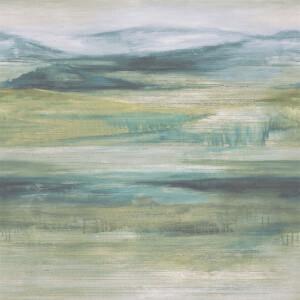 Grandeco Watercolour Landscape Aqua Wallpaper
