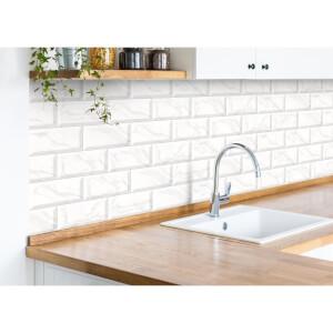 Metro Light Grey Carrara Wall Tile - 20 x 10cm - 25 pack
