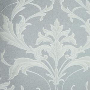 Boutique HWV Oxford Silver Grey Wallpaper
