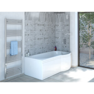 Mondella Resonance P-Shaped Bath Screen with Rail