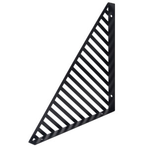 Lines Bracket - Black - 300x300mm