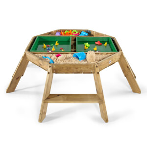 Plum Wooden Octagonal Activity Table