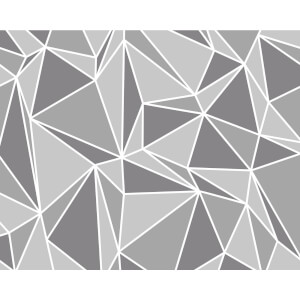 Fine Decor Radian Grey and White Smooth Wallpaper Mural