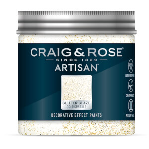 Craig & Rose Artisan Glitter Glaze Paint - Gold Sparkle - 100ml
