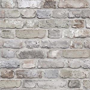 Grandeco Facade Brick Pastel Paste the Wall Wallpaper