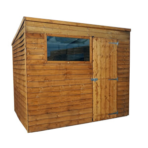 Mercia (Installation Included) 8x6ft Overlap Pent Shed