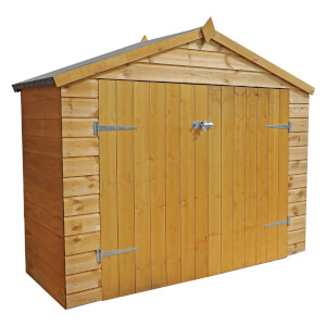 Mercia (Installation Included) 7x3ft Shiplap Apex Bike Shed