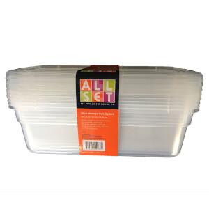 Clear Plastic Shoe Box 5 pack