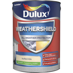 Dulux Weathershield All Weather Smooth Masonry Paint - Buttermilk - 5L