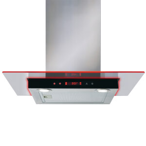 CDA EKN60SS Flat Glass Hood with Edge Lighting - 60cm