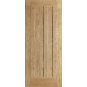 Norfolk External Unfinished Oak Door - 838 x 1981mm