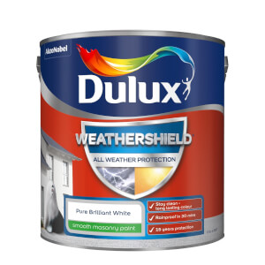 Dulux Weathershield All Weather Smooth Masonry Paint - Pure Brilliant White - 2.5L