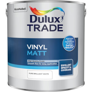 Dulux Trade Vinyl Matt - Pure Brilliant White - 2.5L