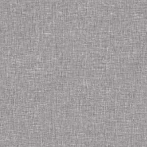 Arthouse Linen Texture Plain Textured Mid Grey Wallpaper