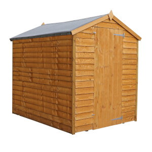 Mercia 7x5ft Overlap Apex Windowless Shed