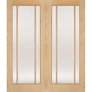 Lincoln Internal Glazed Unfinished Oak 3 Lite Pair Doors - 1524 x 1981mm