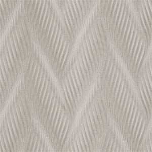 Belgravia Decor Coca Cola Geometric Embossed Metallic Wave Ivory Wallpaper