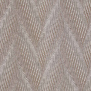 Belgravia Decor Coca Cola Geometric Embossed Metallic Wave Taupe Wallpaper