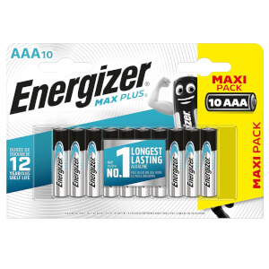Energizer MAX PLUS Alkaline AAA Batteries - 10 Pack