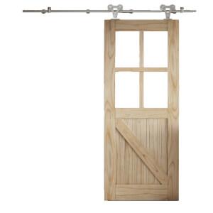 Cottage FLB Sliding Barn Clear Glazed Door with Elegant Track 2073 x 862mm