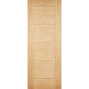 Modica External Unfinished Oak Part L Compliant Door - 813 x 2032mm