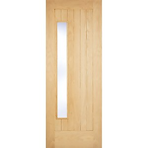 Newbury External Glazed Unfinished Oak 1 Lite Part L Compliant Door - 813 x 2032mm