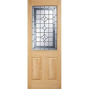 Winchester External Glazed Unfinished Oak 1 Lite Part L Compliant Door - 762 x 1981mm