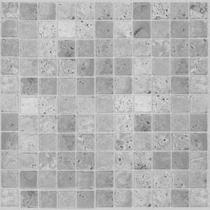Light Grey Mosaic Vinyl Floor Tiles