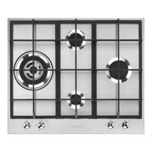 Smeg PX364L 60cm 4 Burner Classic Gas Hob - Stainless Steel