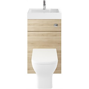 Balterley Rio 500mm Basin With WC Unit - Natural Oak