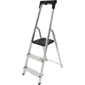 Werner High Handrail Step Ladder with Tool Tray - 3 Tread