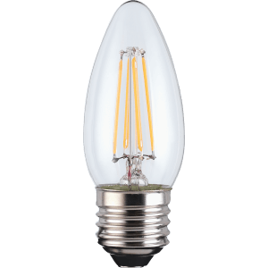 TCP Filament Candle Clear 40W ES Warm Dimmable Light Bulb