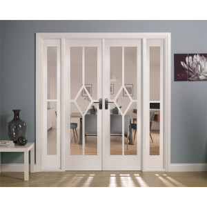Reims Internal Glazed Primed White Room Divider - 1904 x 2031mm