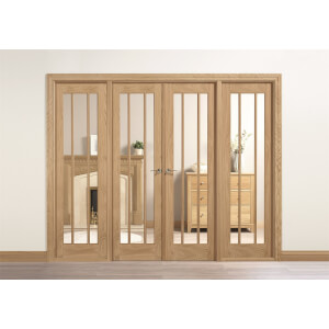 Lincoln Internal Glazed Unfinished Oak Room Divider - 2478 x 2031mm