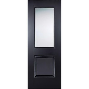 Arnhem Internal Glazed Primed Black 1 Lite 1 Panel Door - 762 x 1981mm