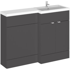 Balterley Dynamic 1200mm Right Hand WC Combination Unit - Gloss Grey