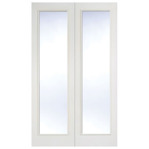 Pattern 20 Internal Glazed Primed White 1 Lite Pair Doors - 1220 x 1981mm