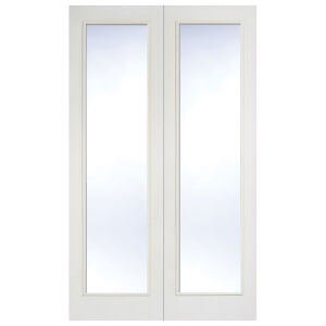 Pattern 20 Internal Glazed Primed White 1 Lite Pair Doors - 1168 x 1981mm