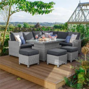 Nova Belmont Rising Casual Rattan Dining Right in White