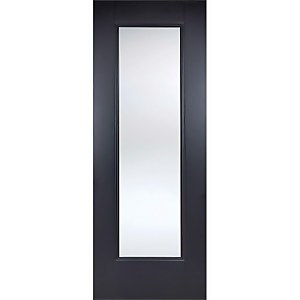 Eindhoven Internal Glazed Primed Black 1 Lite Door - 762 x 1981mm