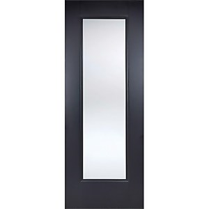 Eindhoven Internal Glazed Primed Black 1 Lite Door - 838 x 1981mm